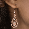 Wicked Wonders VIP Bling Earrings Spring Sparkle Copper Earrings Affordable Bling_Bling Fashion Paparazzi