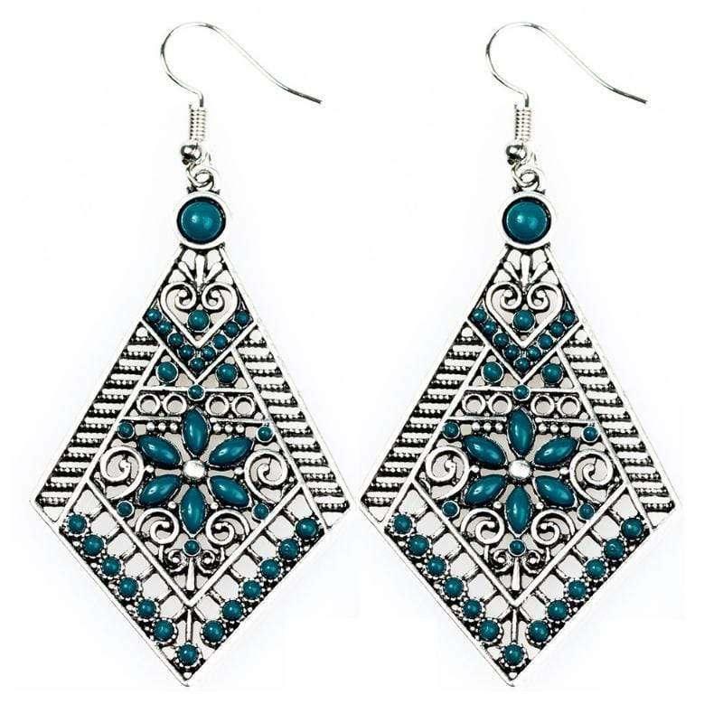 Wicked Wonders VIP Bling Earrings Stay Wild, Wildflower Blue Earrings Affordable Bling_Bling Fashion Paparazzi