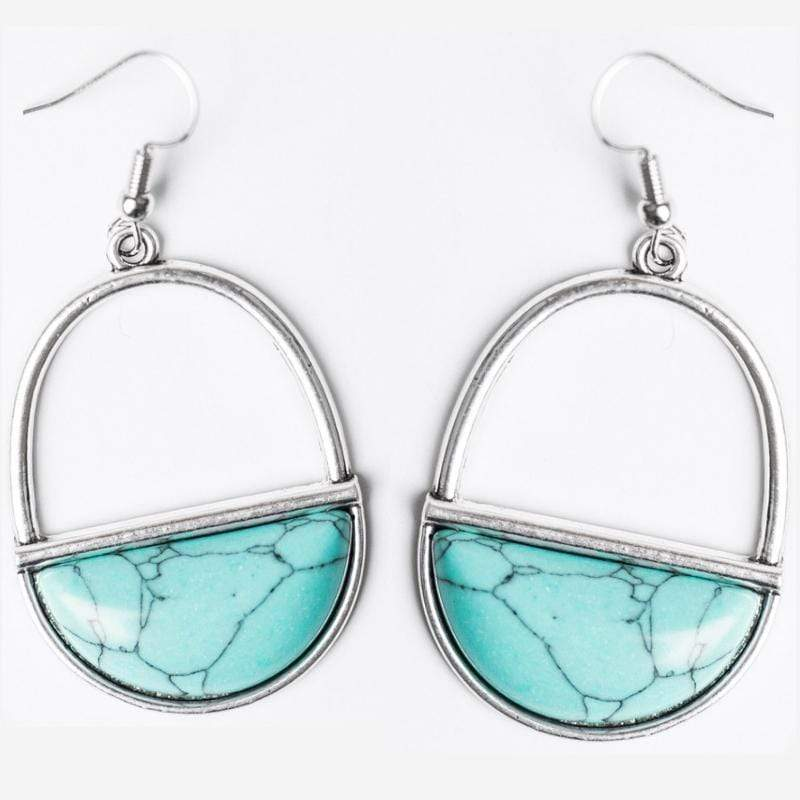 Wicked Wonders VIP Bling Earrings Stone Horizons Blue Earrings Affordable Bling_Bling Fashion Paparazzi
