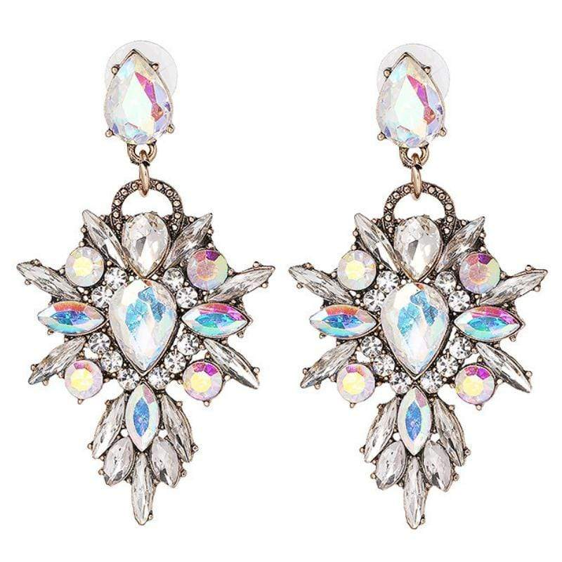 Wicked Wonders VIP Bling Earrings Swing from the Chandelier White Multi Earrings Affordable Bling_Bling Fashion Paparazzi