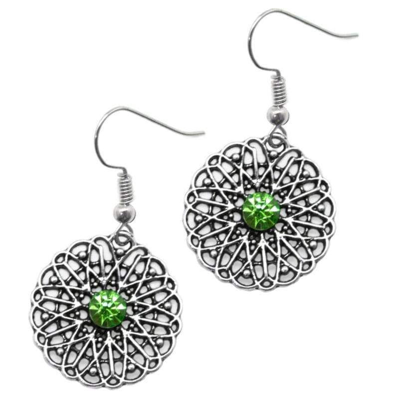 Wicked Wonders VIP Bling Earrings Take Me Sailing Green Rhinestone Earrings Affordable Bling_Bling Fashion Paparazzi