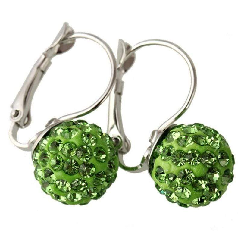Wicked Wonders VIP Bling Earrings The Crystal Ball Ya'll Green Huggie Hoop Earrings Affordable Bling_Bling Fashion Paparazzi