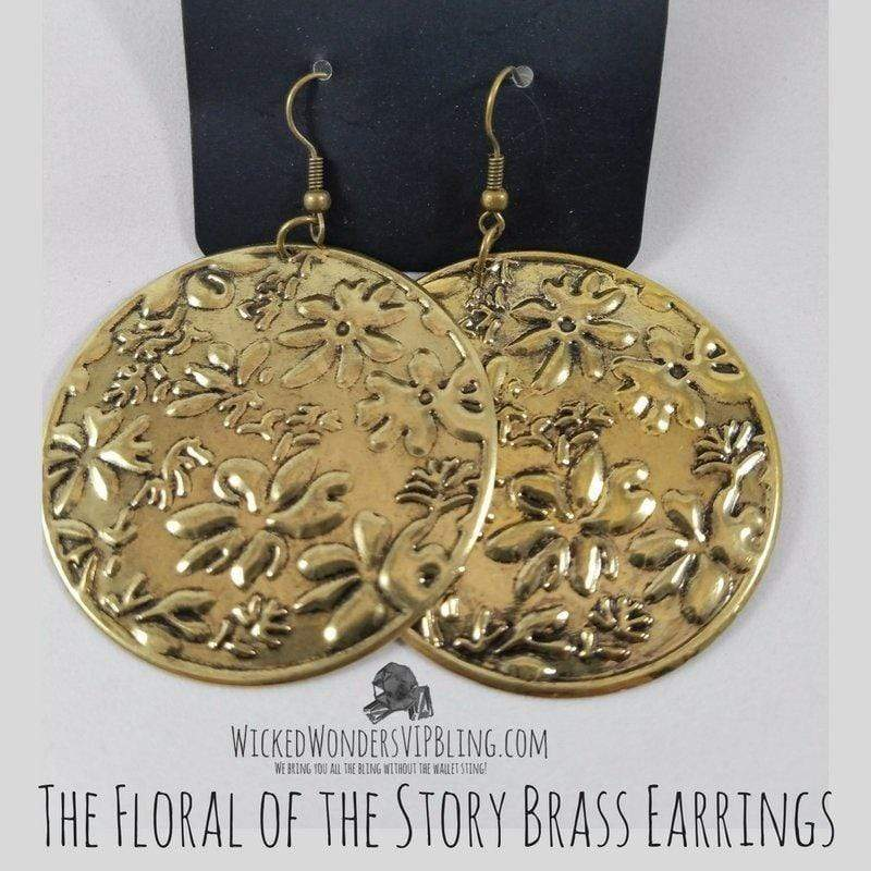 Wicked Wonders VIP Bling Earrings The Floral of the Story Brass Earrings Affordable Bling_Bling Fashion Paparazzi