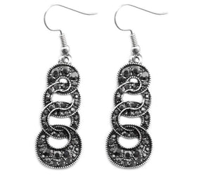 Wicked Wonders VIP Bling Earrings The Imperial Ball Silver Earrings Affordable Bling_Bling Fashion Paparazzi