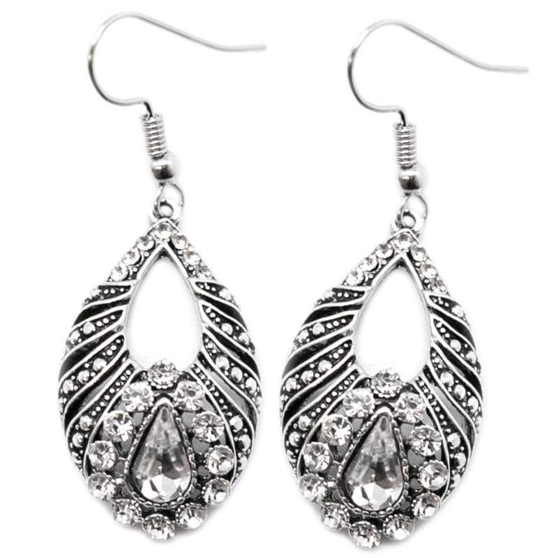 Wicked Wonders VIP Bling Earrings The Last Waltz White Earring Affordable Bling_Bling Fashion Paparazzi