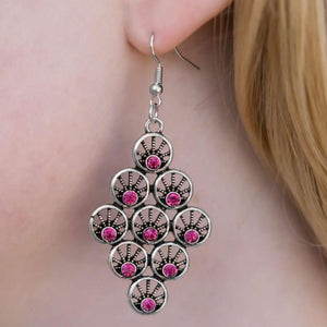 Wicked Wonders VIP Bling Earrings The Light Show Pink Rhinestone Earrings Affordable Bling_Bling Fashion Paparazzi
