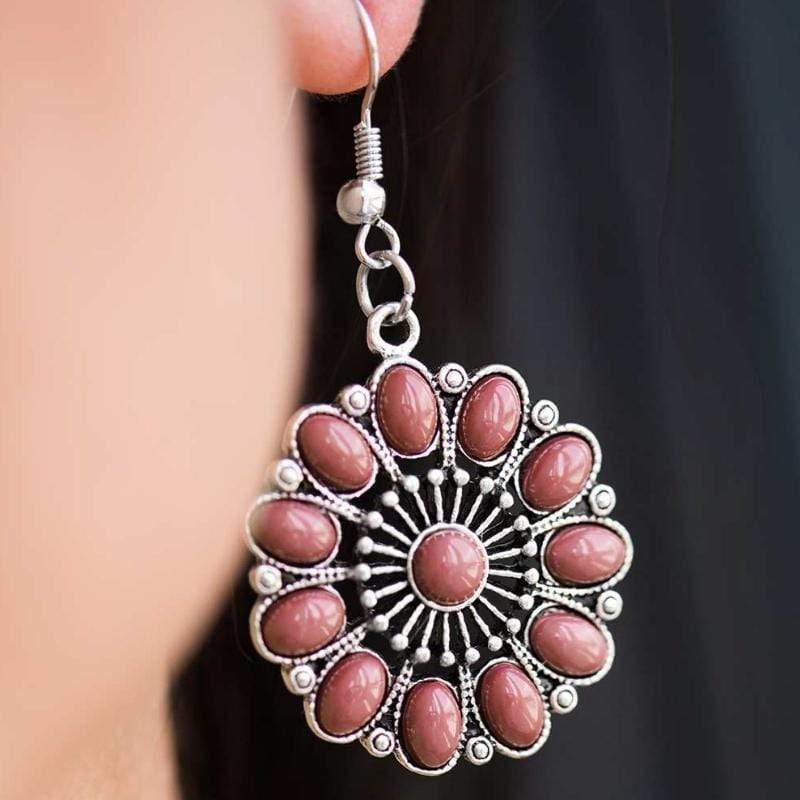 Wicked Wonders VIP Bling Earrings The Lotus Palace Pink Earrings Affordable Bling_Bling Fashion Paparazzi