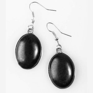 Wicked Wonders VIP Bling Earrings The Mountains Are Calling Black Stone Earrings Affordable Bling_Bling Fashion Paparazzi