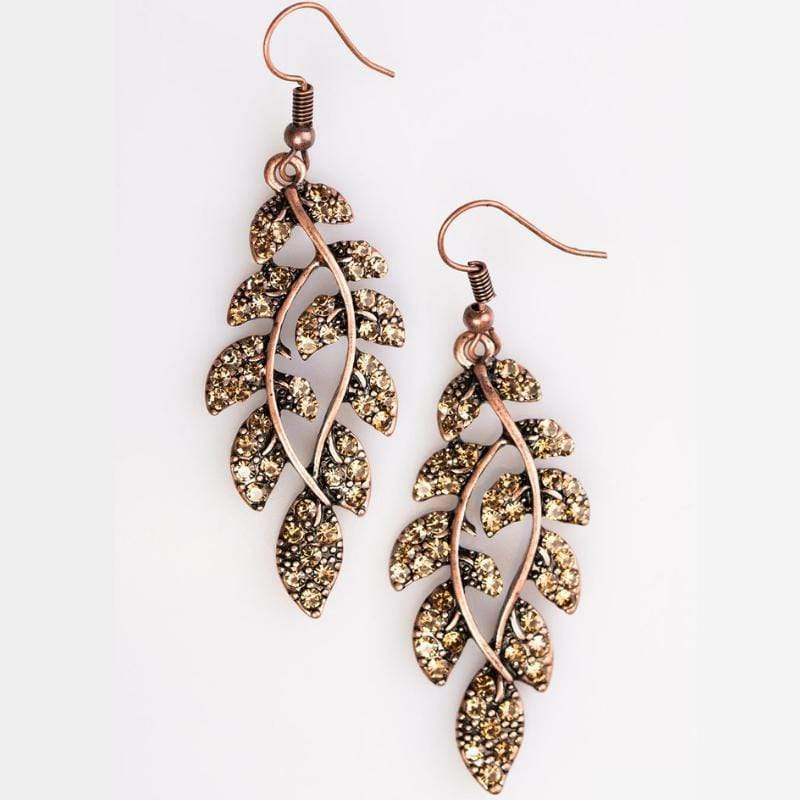 Wicked Wonders VIP Bling Earrings Time WILLOW Tell Copper Earrings Affordable Bling_Bling Fashion Paparazzi