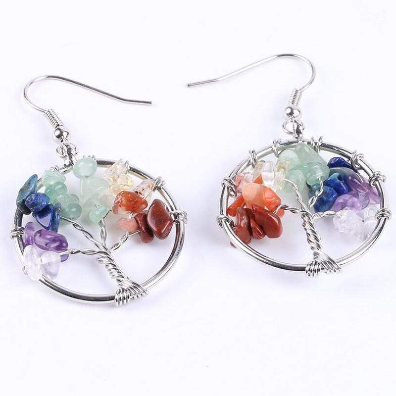 Wicked Wonders VIP Bling Earrings Tree Shadows Multi-Color Pebble Earrings Affordable Bling_Bling Fashion Paparazzi