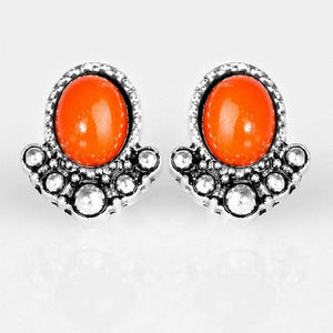 Wicked Wonders VIP Bling Earrings Tropical Tease Orange Post Earrings Affordable Bling_Bling Fashion Paparazzi