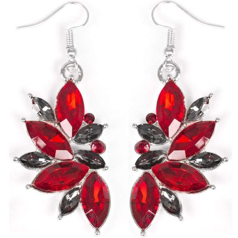 Wicked Wonders VIP Bling Earrings Vegas Vogue Red Statement Earrings Affordable Bling_Bling Fashion Paparazzi