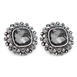 Wicked Wonders VIP Bling Earrings Victory Is Mine Silver Gem Post Earrings Affordable Bling_Bling Fashion Paparazzi