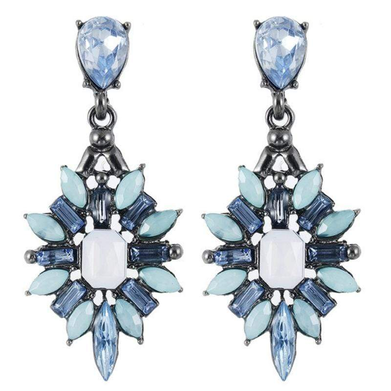 Wicked Wonders VIP Bling Earrings Vintage Crystal Blue Gem Earrings Affordable Bling_Bling Fashion Paparazzi