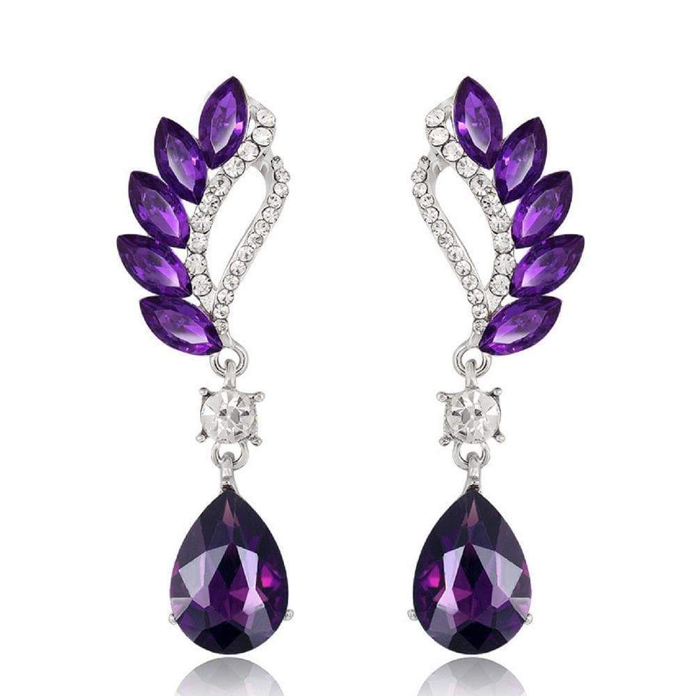 Wicked Wonders VIP Bling Earrings Vintage Flight Purple Gem Statement Earrings Affordable Bling_Bling Fashion Paparazzi