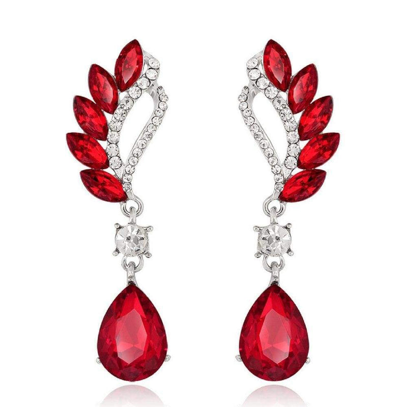 Wicked Wonders VIP Bling Earrings Vintage Flight Red Gem Statement Earrings Affordable Bling_Bling Fashion Paparazzi