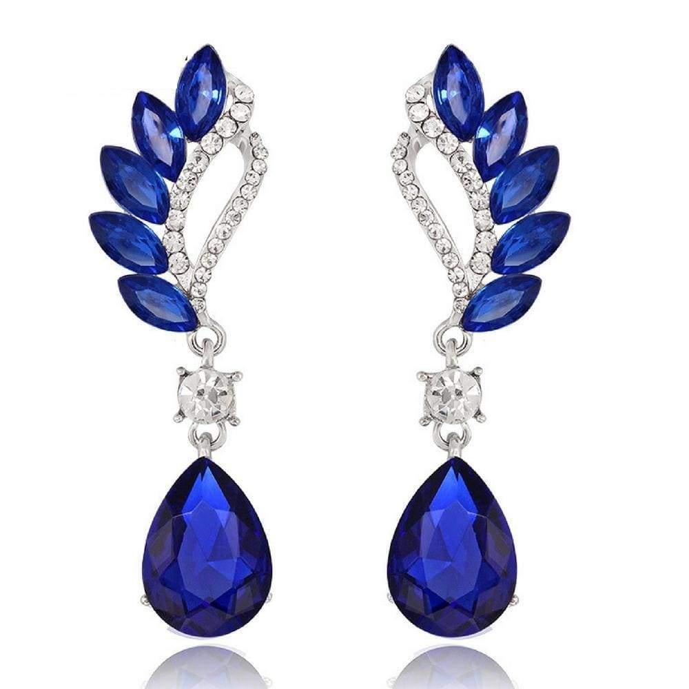 Wicked Wonders VIP Bling Earrings Vintage Flight Royal Blue Gem Statement Earrings Affordable Bling_Bling Fashion Paparazzi