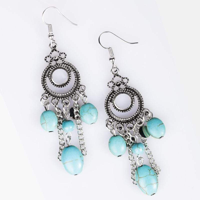 Wicked Wonders VIP Bling Earrings Western Chimes Blue Earrings Affordable Bling_Bling Fashion Paparazzi