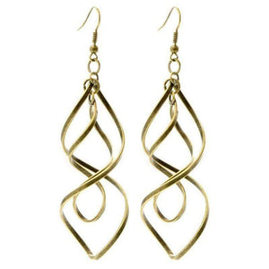 Wicked Wonders VIP Bling Earrings Wherever the Wind Takes You Brass Earrings Affordable Bling_Bling Fashion Paparazzi