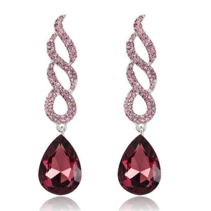 Wicked Wonders VIP Bling Earrings WINE-ding Down Wine-Colored Statement Earrings Affordable Bling_Bling Fashion Paparazzi