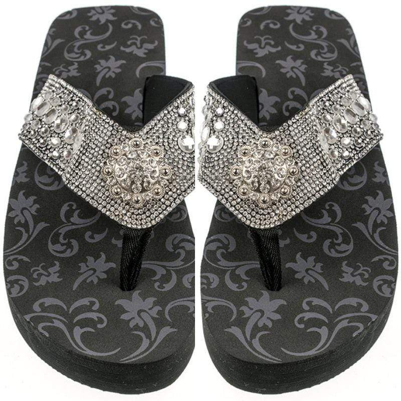 Wicked Wonders VIP Bling Footwear Crystal Concho Iconic Flip Flops Affordable Bling_Bling Fashion Paparazzi