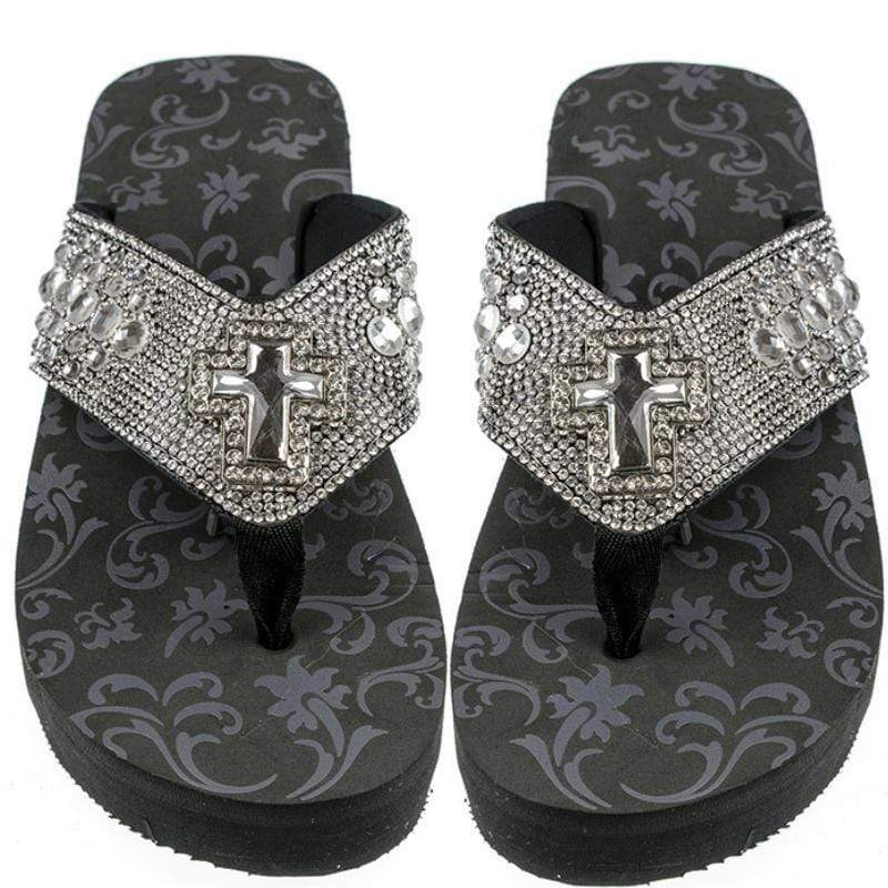 Wicked Wonders VIP Bling Footwear Crystal Cross Iconic Fashion Flip Flops Affordable Bling_Bling Fashion Paparazzi