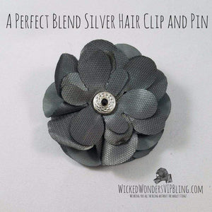 Wicked Wonders VIP Bling Hair Clip A Perfect Blend Silver Hair Clip and Pin Affordable Bling_Bling Fashion Paparazzi
