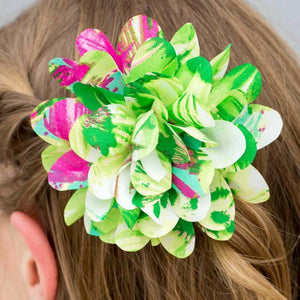 Wicked Wonders VIP Bling Hair Clip Aloha Multi/Green Hair Clip Affordable Bling_Bling Fashion Paparazzi
