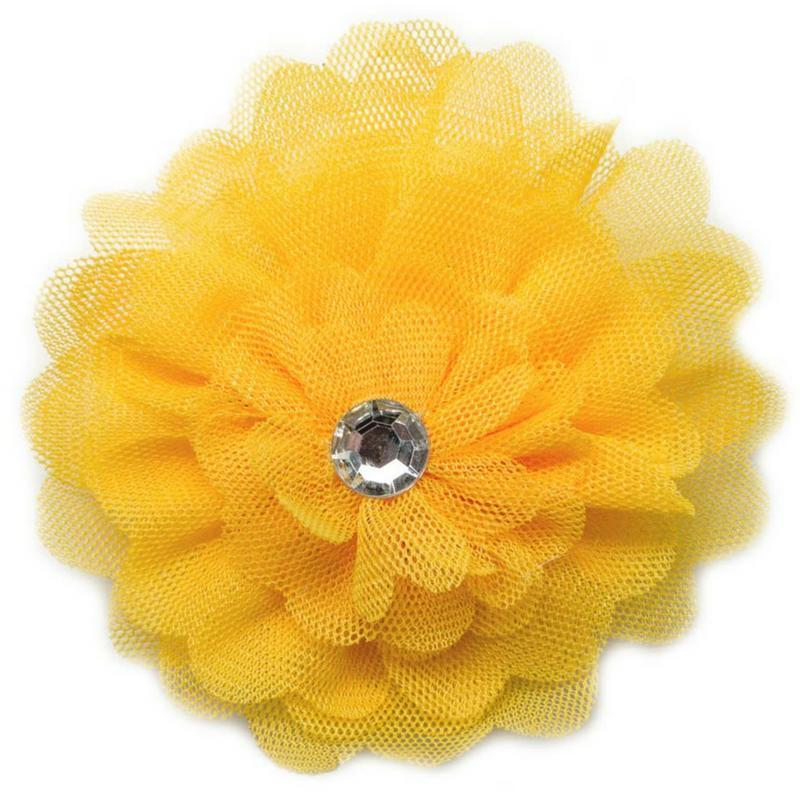 Wicked Wonders VIP Bling Hair Clip And Jill Came Tumbling After Yellow Hair Clip Affordable Bling_Bling Fashion Paparazzi