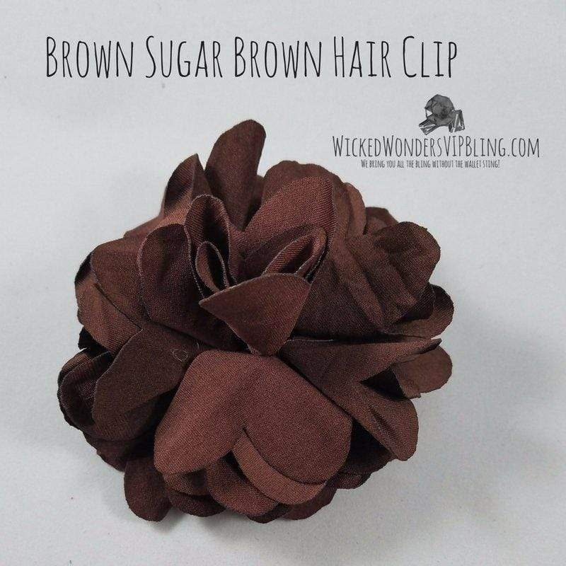 Wicked Wonders VIP Bling Hair Clip Brown Sugar Brown Hair Clip Affordable Bling_Bling Fashion Paparazzi