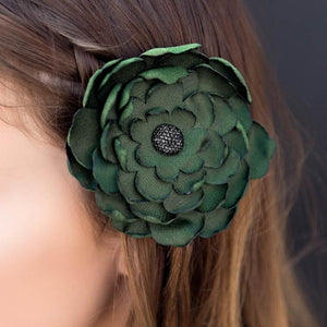 Wicked Wonders VIP Bling Hair Clip Cheer Up Charlie Green Hair Clip Affordable Bling_Bling Fashion Paparazzi