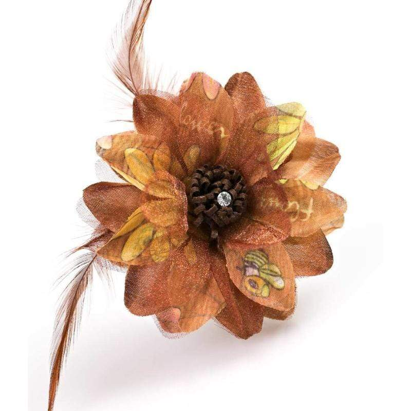 Wicked Wonders VIP Bling Hair Clip Flair for the Dramatic Brown Hair Clip Affordable Bling_Bling Fashion Paparazzi