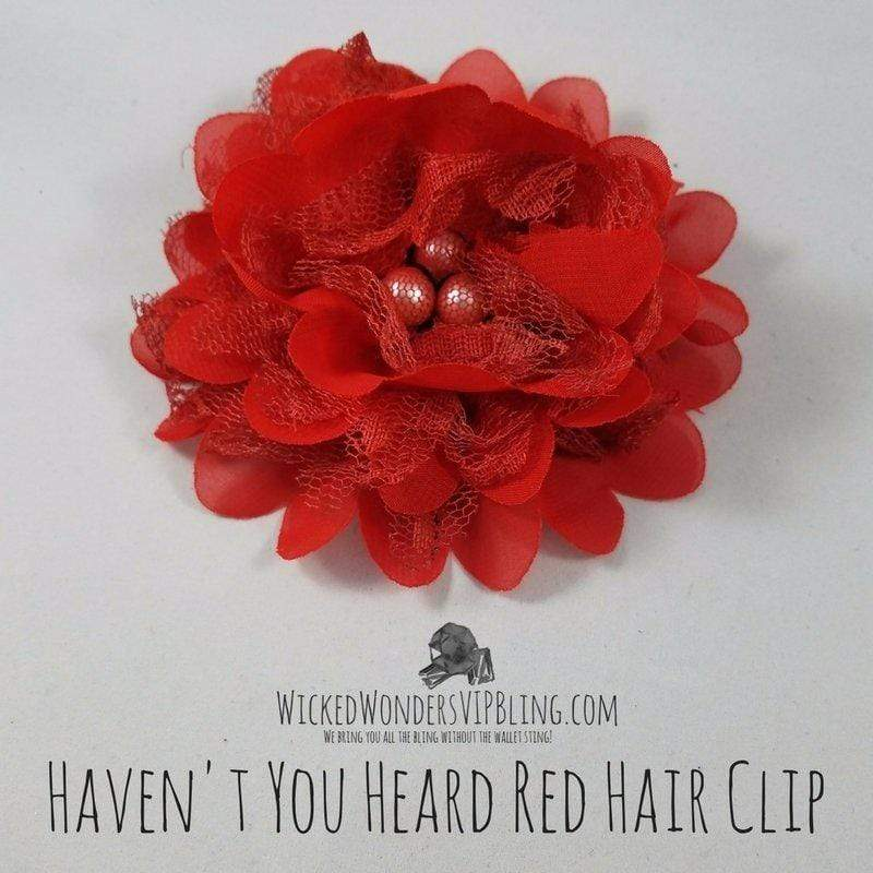Wicked Wonders VIP Bling Hair Clip Haven't You Heard Red Hair Clip Affordable Bling_Bling Fashion Paparazzi
