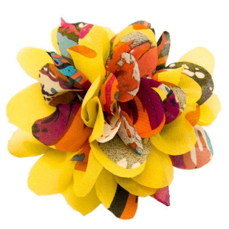Wicked Wonders VIP Bling Hair Clip Having a Blast Yellow/Multi Hair Clip Affordable Bling_Bling Fashion Paparazzi