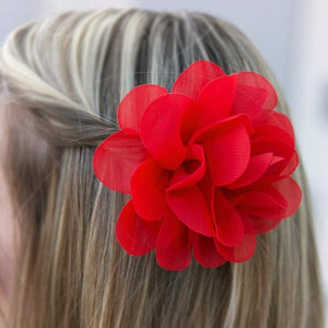 Wicked Wonders VIP Bling Hair Clip Hawaiian Escape Red Hair Clip Affordable Bling_Bling Fashion Paparazzi