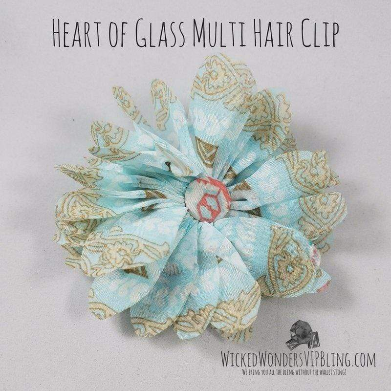 Wicked Wonders VIP Bling Hair Clip Heart of Glass Multi Colored Hair Clip Affordable Bling_Bling Fashion Paparazzi