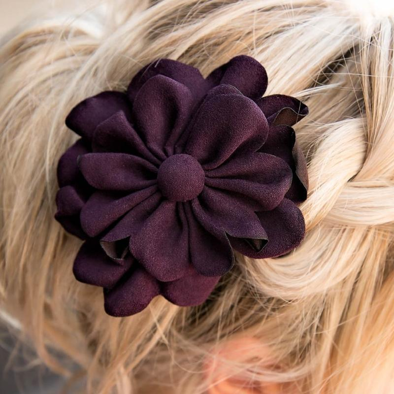 Wicked Wonders VIP Bling Hair Clip If Wishes Were Horses Purple Hair Clip Affordable Bling_Bling Fashion Paparazzi
