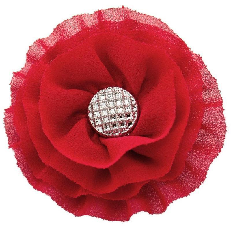 Wicked Wonders VIP Bling Hair Clip Jasmine Red Hair Clip Affordable Bling_Bling Fashion Paparazzi