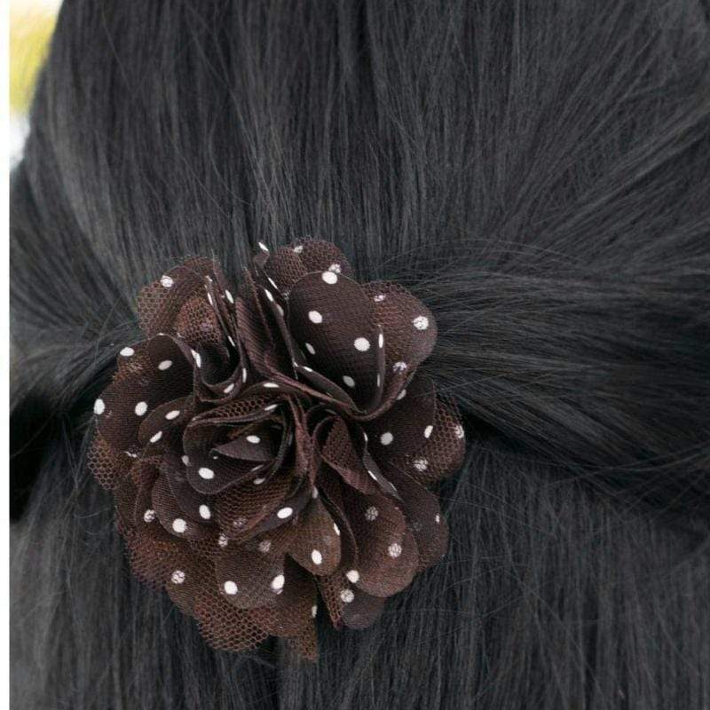 Wicked Wonders VIP Bling Hair Clip Just POLKA-ing Fun at You Brown Hair Clip Affordable Bling_Bling Fashion Paparazzi