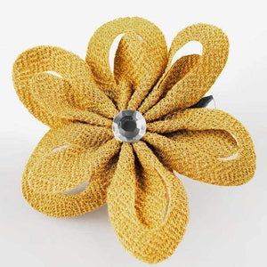 Wicked Wonders VIP Bling Hair Clip Kiss Me Yellow Hair Clip Affordable Bling_Bling Fashion Paparazzi