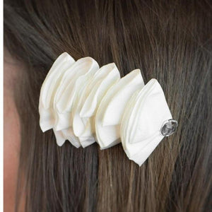 Wicked Wonders VIP Bling Hair Clip Know When to Fold Them White Hair Clip Affordable Bling_Bling Fashion Paparazzi