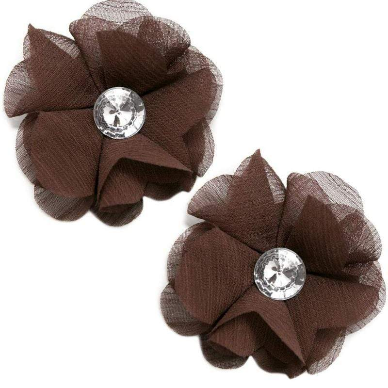 Wicked Wonders VIP Bling Hair Clip Love Ballad Brown Hair Clips (2) Affordable Bling_Bling Fashion Paparazzi
