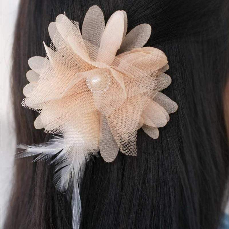 Wicked Wonders VIP Bling Hair Clip My Old Kentucky Home Tan Brown Hair Clip Affordable Bling_Bling Fashion Paparazzi