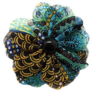 Wicked Wonders VIP Bling Hair Clip Rags to Riches Blue Multi Color Hair Clip Affordable Bling_Bling Fashion Paparazzi