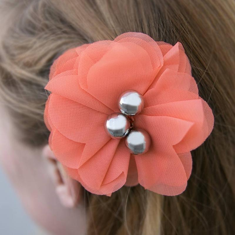 Wicked Wonders VIP Bling Hair Clip Summer Haven Coral Hair Clip Affordable Bling_Bling Fashion Paparazzi