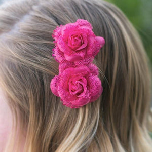 Wicked Wonders VIP Bling Hair Clip Tea for Two Pink Hair Clips Affordable Bling_Bling Fashion Paparazzi