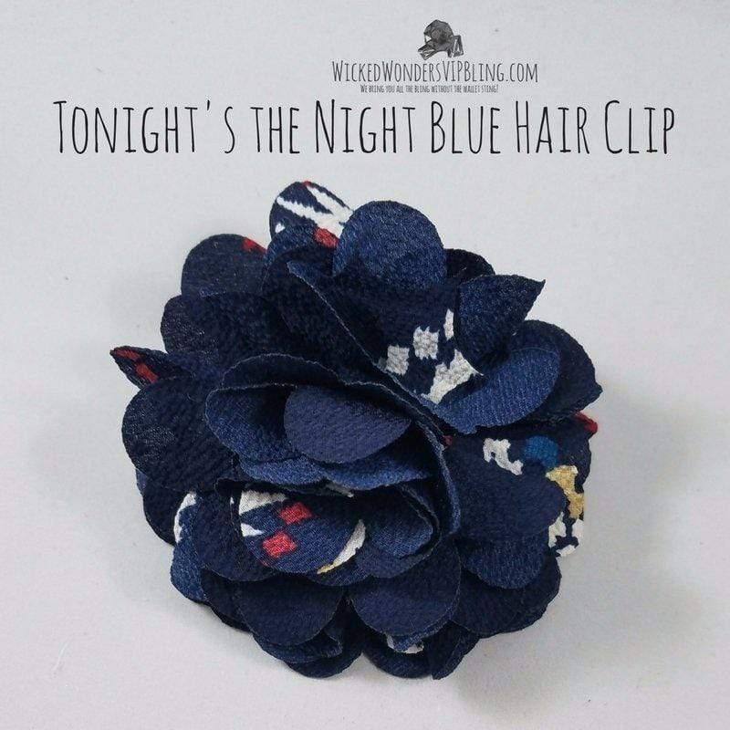 Wicked Wonders VIP Bling Hair Clip Tonight's the Night Blue Hair Clip Affordable Bling_Bling Fashion Paparazzi