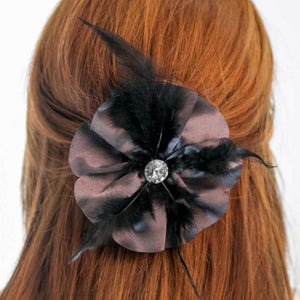 Wicked Wonders VIP Bling Hair Clip Welcome to the Masquerade Gray/Purple Hair Clip Affordable Bling_Bling Fashion Paparazzi
