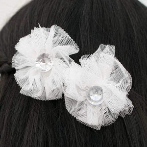 Wicked Wonders VIP Bling Hair Clip Yes, Darling White Hair Clips Affordable Bling_Bling Fashion Paparazzi