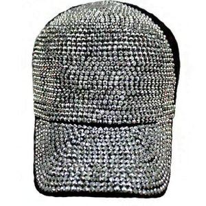 Wicked Wonders VIP Bling Hat Angora and Wool Fabric BLING All Studs Cap Black Affordable Bling_Bling Fashion Paparazzi